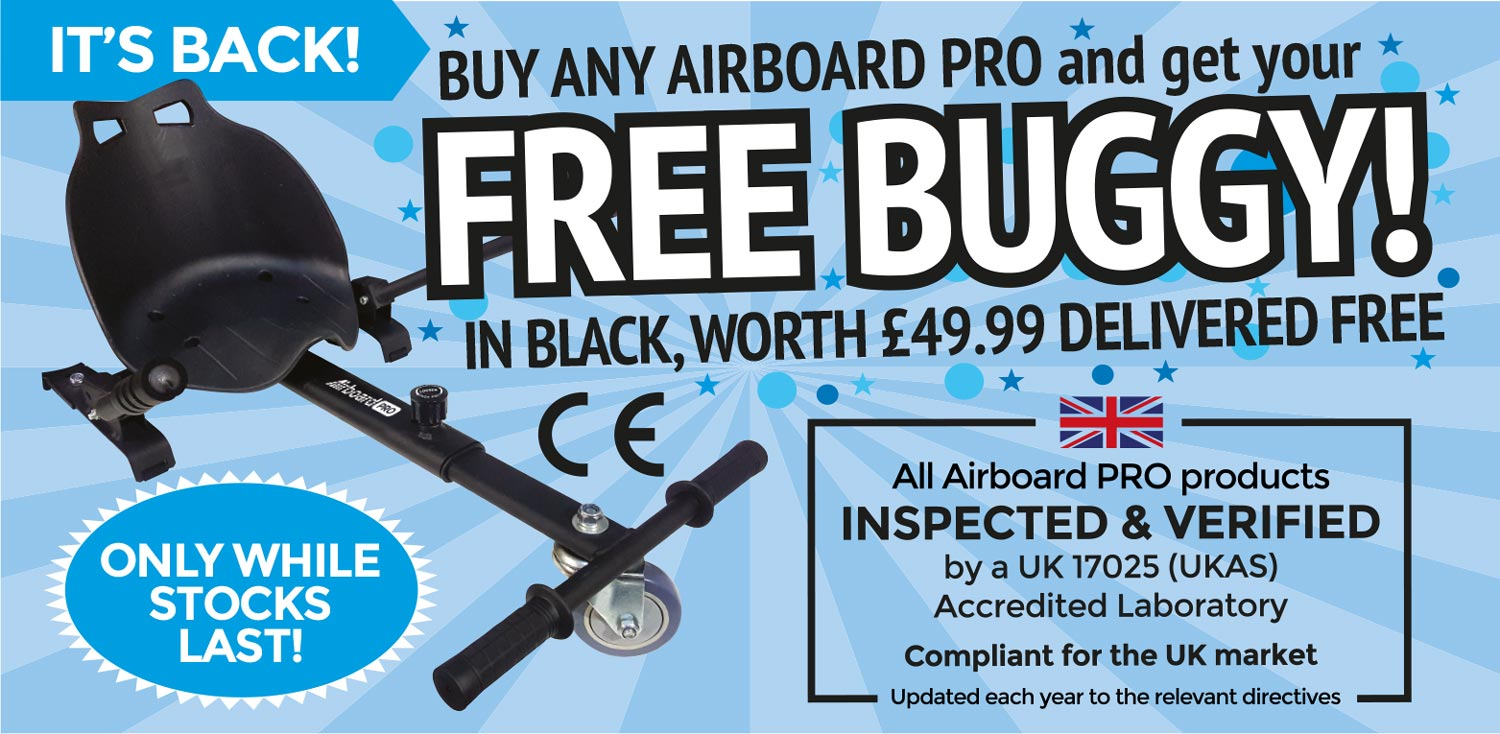 hoverboard with free buggy only while stocks last